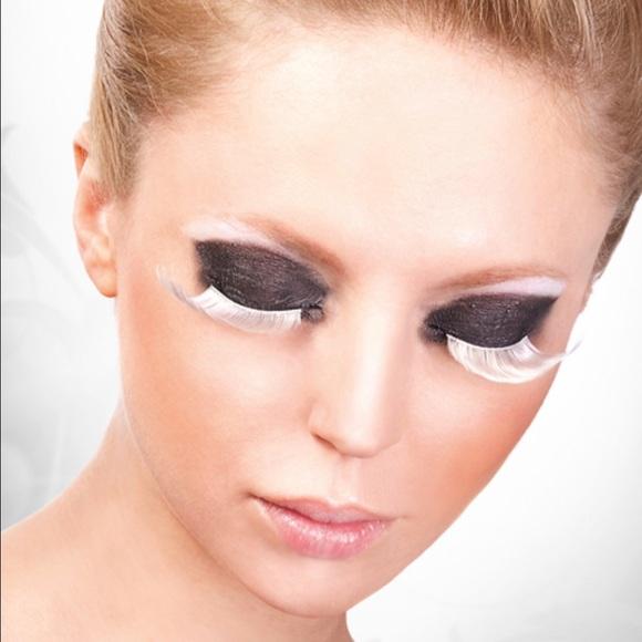 Makeup White Feather False Lasheshalloweenparties Etc Poshmark